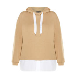 VERPASS HOODY CAMEL - Plus Size Collection