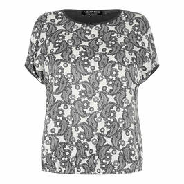 VERPASS PRINT TOP GREY - Plus Size Collection