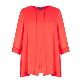 VERPASS CHIFFON TUNIC CORAL - Plus Size Collection