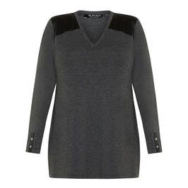 VERPASS V-NECK TUNIC GREY - Plus Size Collection