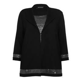 VERPASS SEQUIN EMBELLISHED TWINSET BLACK - Plus Size Collection