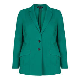 VERPASS STRETCH JERSEY BLAZER TEAL - Plus Size Collection