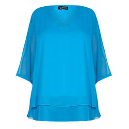 VERPASS GEORGETTE TUNIC TURQUOISE  - Plus Size Collection