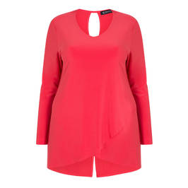 VERPASS LAYERED JERSEY TUNIC RED - Plus Size Collection