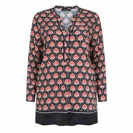 VERPASS TUNIC RED AND BLACK PRINT - Plus Size Collection