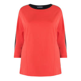 VERPASSP CORAL TUNIC WITH SIDE STRIPE - Plus Size Collection