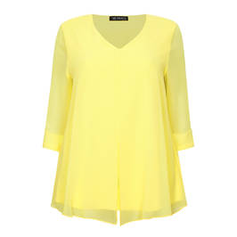 VERPASS LAYERED CHIFFON YELLOW TUNIC - Plus Size Collection