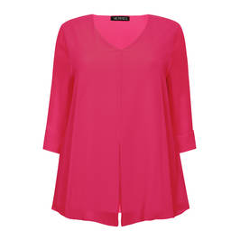 VERPASS LAYERED CHIFFON PINK TUNIC - Plus Size Collection