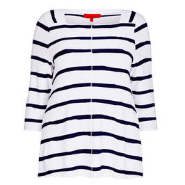 Vetono stripe top navy and white - Plus Size Collection