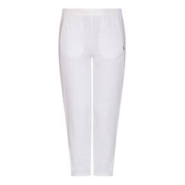 VETONO LINEN TROUSER WHITE - Plus Size Collection