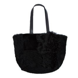 YOEK BLACK SHEEPSKIN BAG - Plus Size Collection