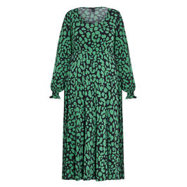 YOEK PRINT DRESS EMERALD - Plus Size Collection