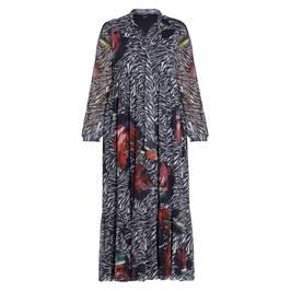 YOEK PRINTED MIDI DRESS - Plus Size Collection