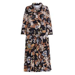 YOEK FLORAL PRINT SHIRT DRESS - Plus Size Collection