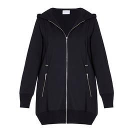 YOEK LONG HOODY BLACK - Plus Size Collection