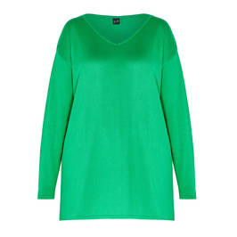 YOEK KNITTED TUNIC EMERALD - Plus Size Collection