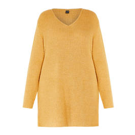 YOEK LONG KNITTED TUNIC HONEY - Plus Size Collection