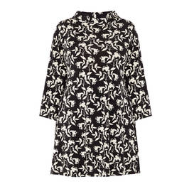 YOEK STRETCH JERSEY WILLOW PRINT TUNIC - Plus Size Collection