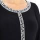 YOEK embellished black TUNIC