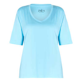 ZAIDA JERSEY TOP TURQUOISE  - Plus Size Collection