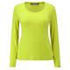 Marina Rinaldi chartreuse scoop neck long sleeve jersey top