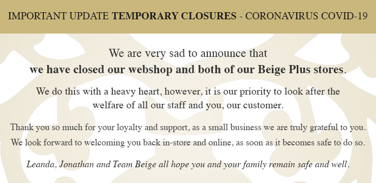 Webshop and stores are now closed due to COVID-19