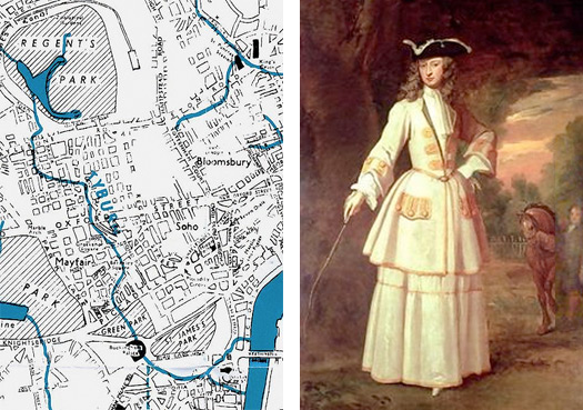 Tyburn Stream Plan and Lady Cavendish Holles