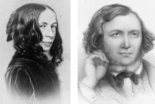 Elizabeth and Robert Browning (Marylebone)