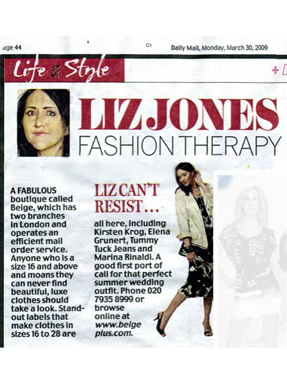 Daily Mail March 2009 Liz Jones