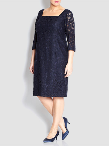 Persona navy lace tailored dress