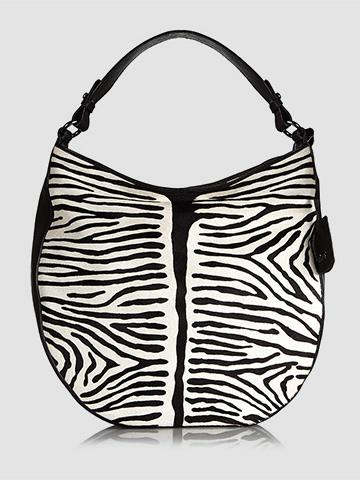 Abro Zebra Print Hobo Handbag