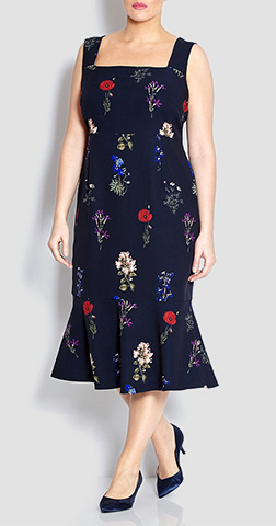Marina Rinaldi Floral Dress With Optional Sleeves