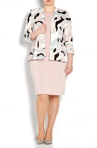 Georgede-Nude-Print-Jacket-Dress