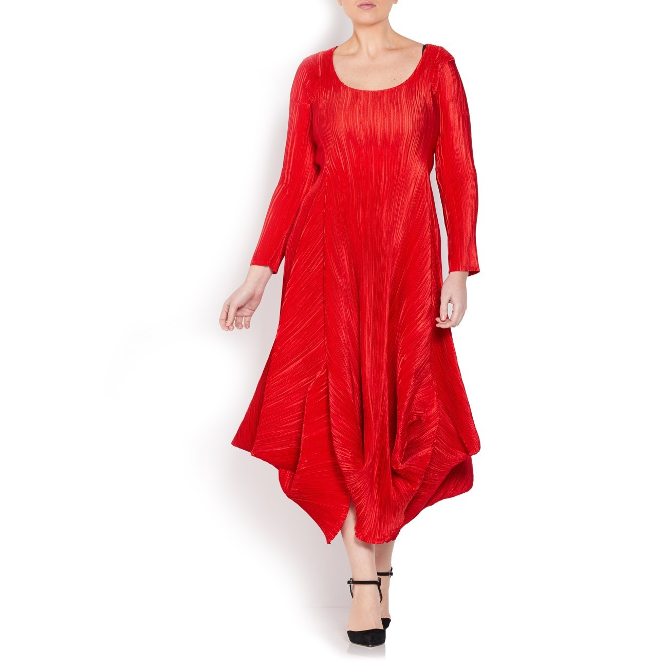 Mashiah Red Ruffled Dress