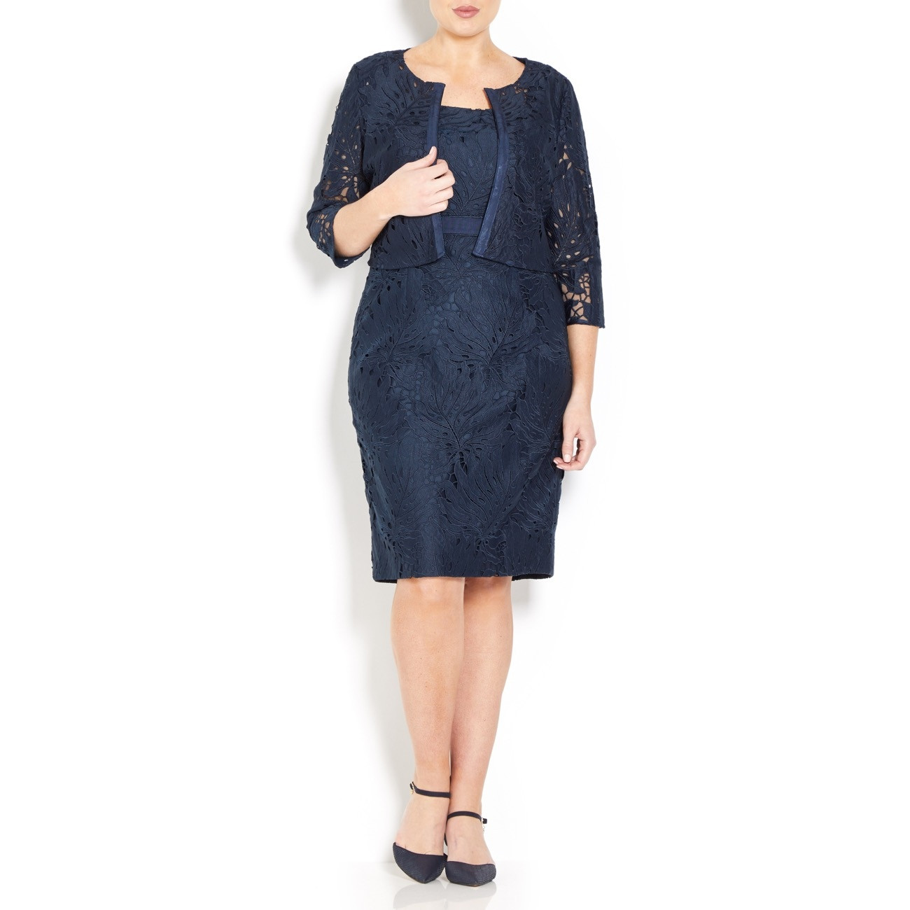 Cabotine Navy Lace Dress and Jacket