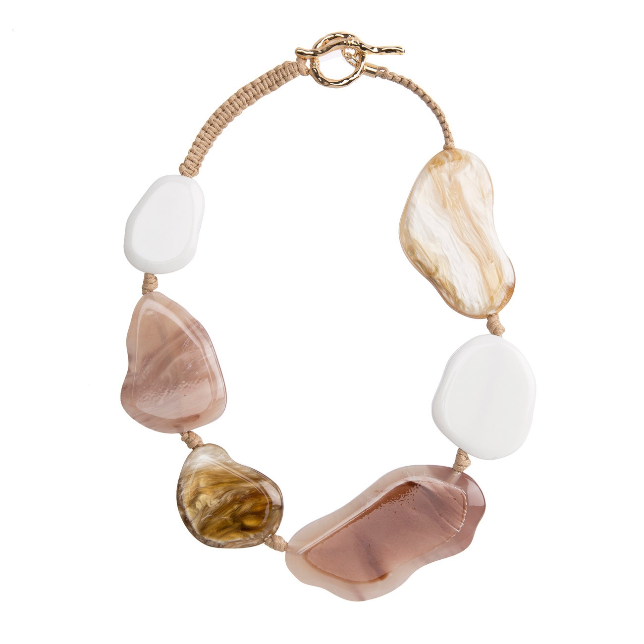 Adele Marie Flat Stones Necklace