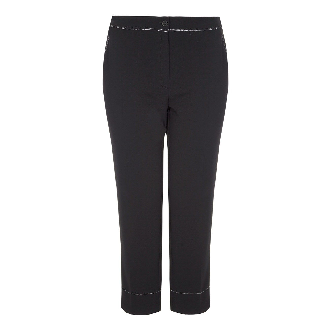 Marina Rinaldi Contrast Stitched Ankle Grazer Trousers
