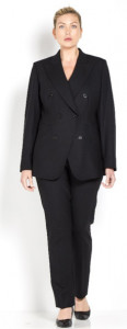 Marina Rinaldi grey stretch wool jacket