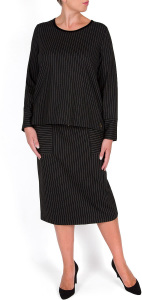 Per Te by Krizia pinstripe black skirt