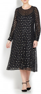 Marina-Rinaldi-black-silk-with gold-dots