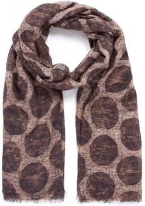 indini spot scarf brown